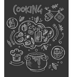 Cooking  chalkboard drawing vector