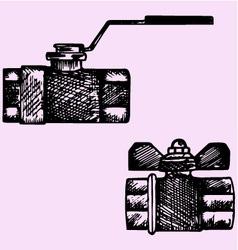 ball valve vector image