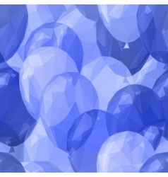Balloon low poly pattern vector