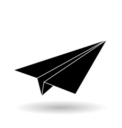 Flat of paperplane design vector