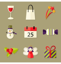 9 christmas icons set 5 vector