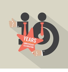 16th years anniversary typography design vector