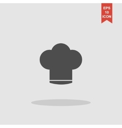 Chef cap icon vector
