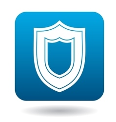 Large shield icon simple style vector