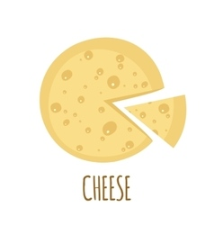 Cheese icon on white background vector