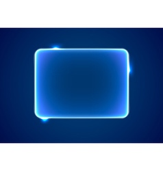 Abstract blue rectangle placeholder vector image vector image