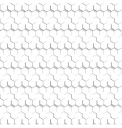 Abstract hexagonal pattern white texture vector