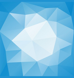 blue low polygonal background vector image