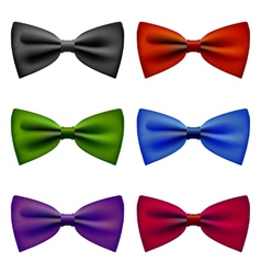 Bow tie colors vintage set vector