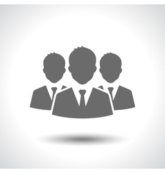 Business leader icon isolated on white background vector image vector image
