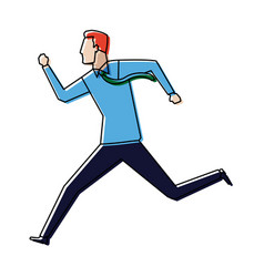 Businessman running energetic dynamic concept vector