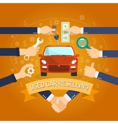 Car reselling concept vector