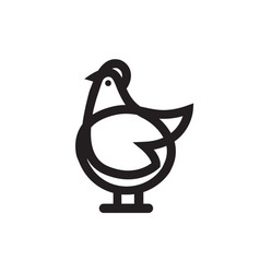 Chicken or rooster icon vector