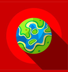 Colored planet icon flat style vector