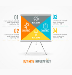 concept of business infographic option banner card vector image