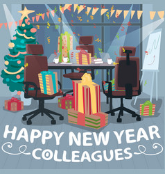 Congratulations happy new year from colleagues vector