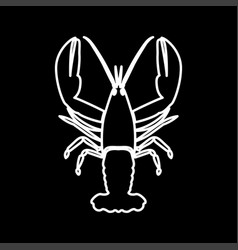 Craw fish it is icon vector