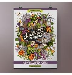 Doodles cartoon colorful happy halloween hand vector