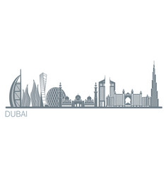 Dubai city stock vector