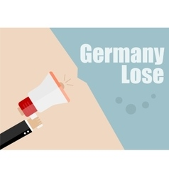 Germany lose Flat design business vector image vector image