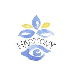 Harmony zen beauty promo sign vector