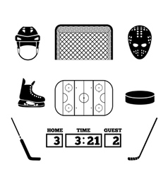 Hockey icons vector