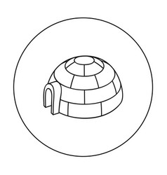 Igloo icon in outline style isolated on white vector