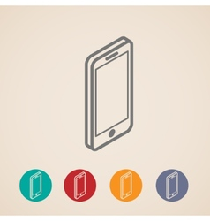 Isometric mobile phone icons vector