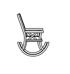 line comfortable chair to relaxation object icon vector image vector image