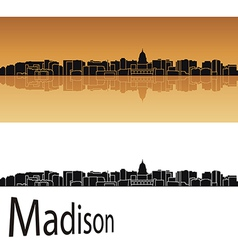 Madison skyline vector