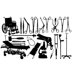 medical equipment set vector image vector image