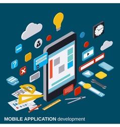 Mobile application development concept vector