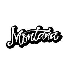 Montana sticker modern calligraphy hand vector