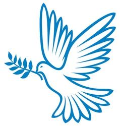 Peace Dove vector image vector image