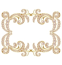 Pearl frame vector image