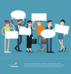 people opinion template vector image