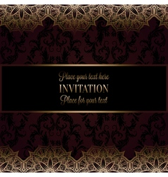 Wedding invitation or card  intricate lace mandala vector