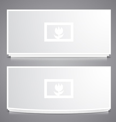 Two Photo Frames vector image