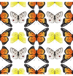 butterfly seamless4 vector image