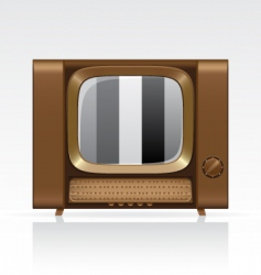 Retro tv vector