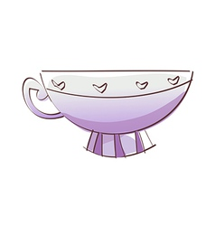 A cup vector image