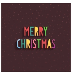Merry christmas lettering on chocolate background vector