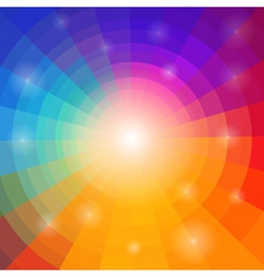 Abstract circular colorful background for your des vector image