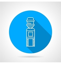 Automatic cooler blue round icon vector