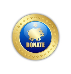 Donate piggy bank icon vector