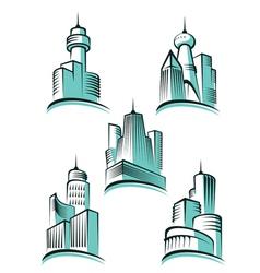 skyscraper logos vector image