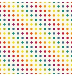 Polka dot seamless pattern in vintage colors vector