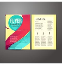 Abstract Brochure Flyer design vector image vector image