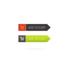 Add to cart button with shopping icon vector