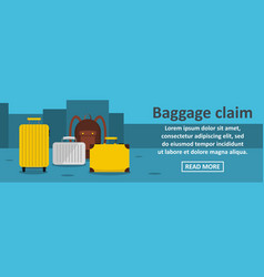 Baggage claim banner horizontal concept vector